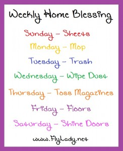 WeeklyHomeBlessingList