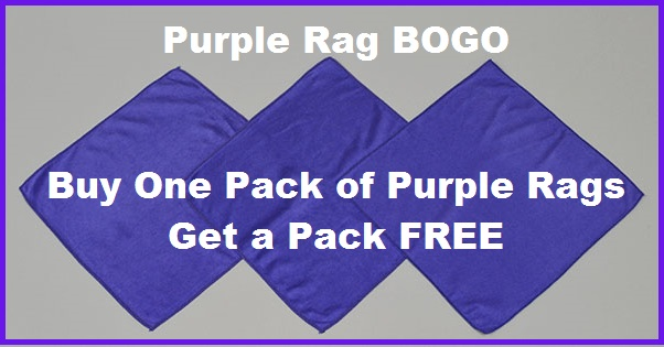 Purple Rag Bogo email Banner