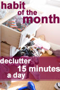 Decluttering for 15 Minutes a Day